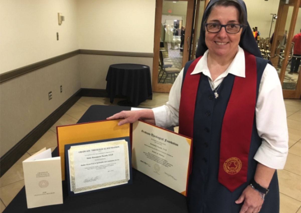 Pauline Sister Rose Pacatte Receives Doctorate of Ministry in Pastoral Communications